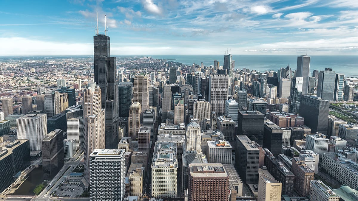 Chicago Skyline as seen from above