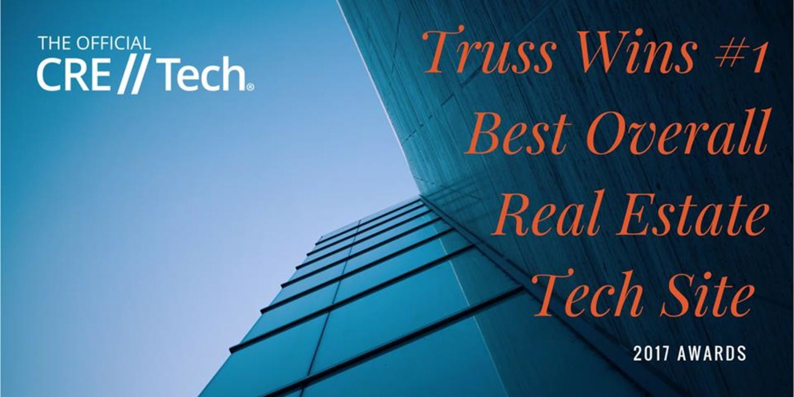 CRE//Tech - Truss wins 1st - Best Overall Real Estate Tech Site - 2017