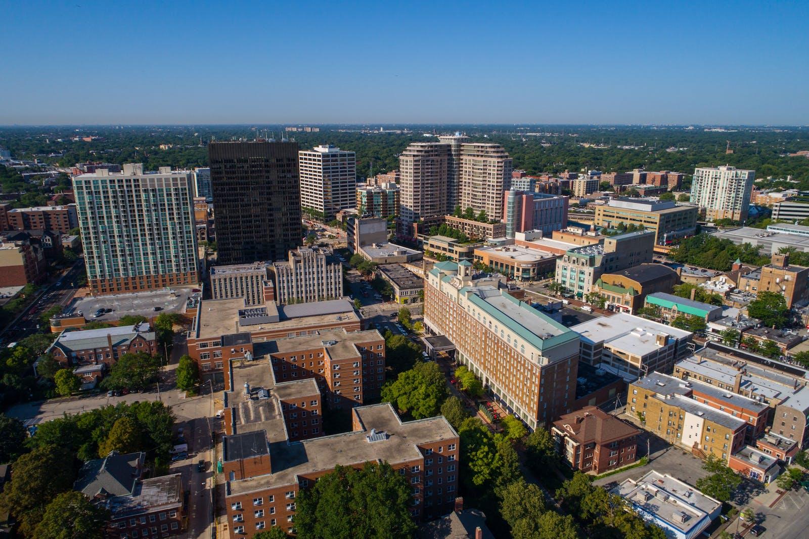 Downtown Evanston Skyline - Truss