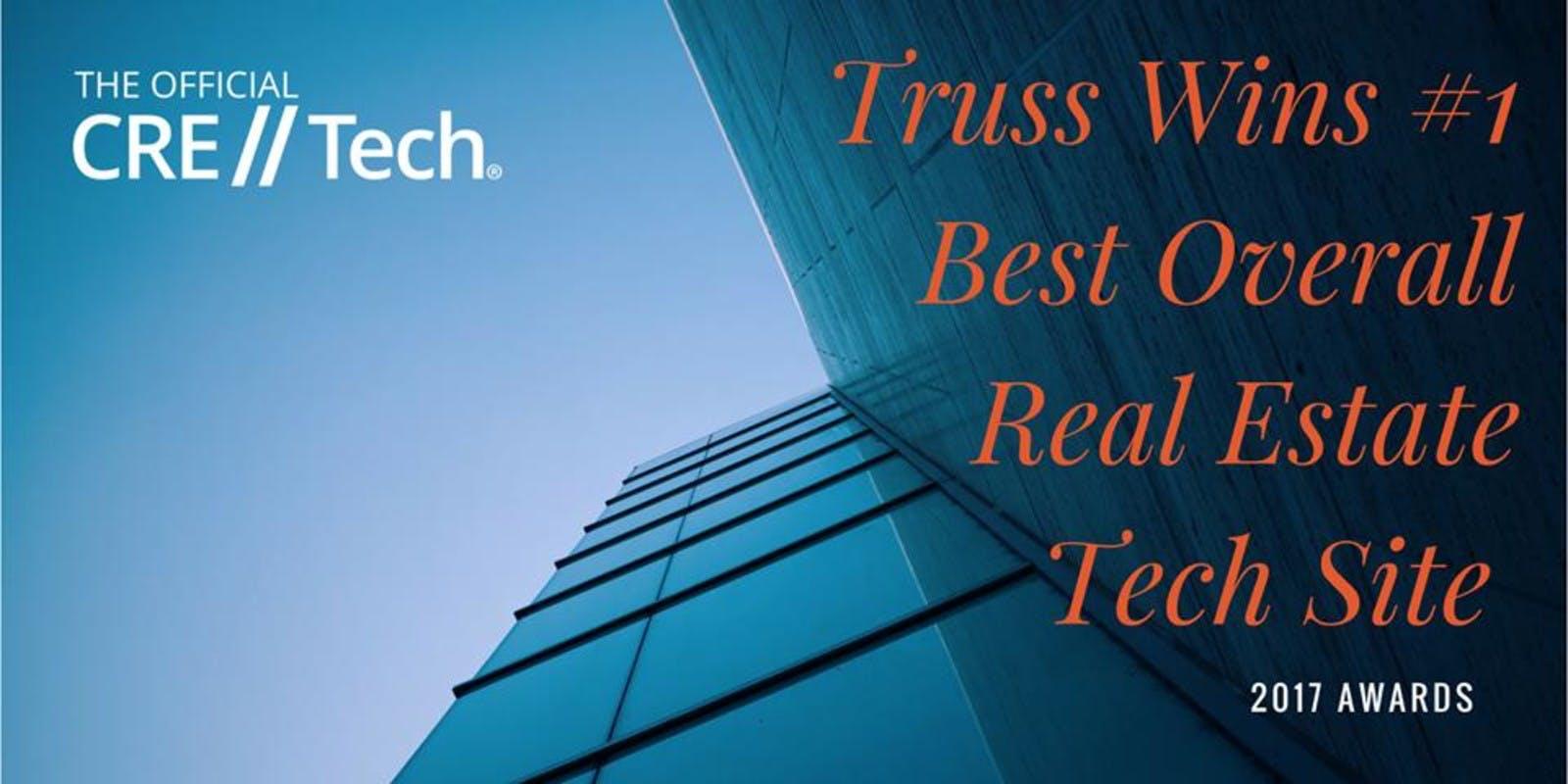 CRE//Tech - Truss Wins 1st - Best Overall Real Estate Tech Site - 2017